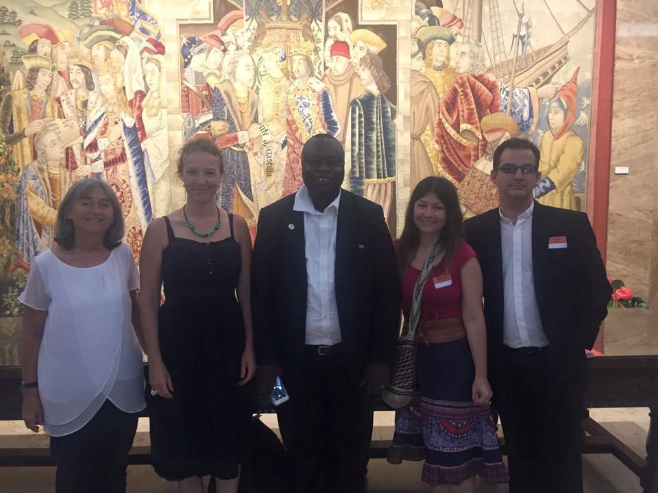 y también estuvimos en Madrid en la Agencia Española de Cooperación Internacional para el Desarrollo acompañando al Presidente de Caritas Freetown.
